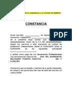 Modelo De Certificado De Servicios Prestados 1