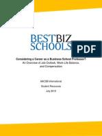 Considering Career Business School Professor AACSB