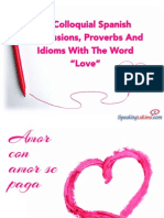 """14 Colloquial Spanish Expressions, Proverbs And Idioms With The Word """"Love"""""""