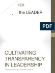 Cultivating Transparency in Leadership
