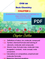 Chap2-Elements, Compounds, Chem Equations and Calculations