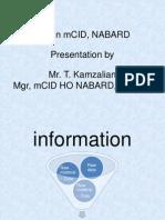 Presentation on MIS in mCID, NABARD