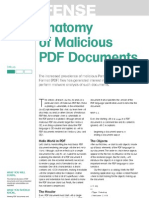 Anatomy of Malicious PDF Documents