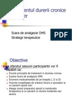 P2.Scara de Analgezie OMS. Strategii Terapeutice.