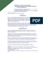 ORDONANŢĂ nr.116 din 27 august 1998 privind instituirea regimului special pentru activitatea de transport maritim internaţional