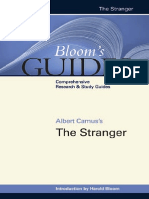 9780791098295 - The Stranger (Bloom's Guides) by Harold Bloom