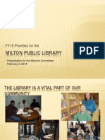 FY 15 Library Budget presentation