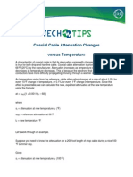 Coax Temp Attenuation Tech Tip