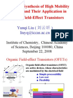 Design and Synthesis of High Mobility Materials and Their Application in Organic  Field-Effect Transistors