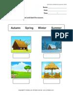 Seasons Worksheet 1 TurtleDiary