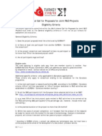 Eligibility Criteria_Joint R&D Call