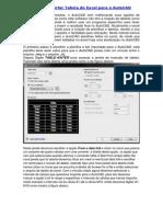 DICA- Importar Tabela Do Excel