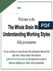4 Quadrants of the Brain