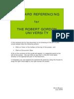 Harvard Guide RGU