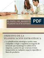 EL PAPEL DEL MARKETING EN LA PLANIFICACIÓN ESTRATÉGICA