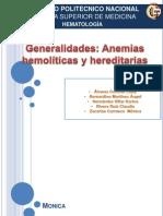 anemias hemoliticas generalidades