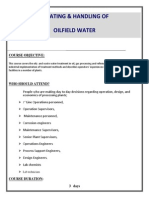 Treating & Handling of Oil Field Water