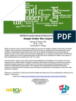 Swept Under the Carpet Final Programme
