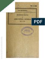 Tm 9-1900 1942 AMMUNITION GENERAL
