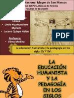 Educación Humanista del siglo 15 y 16  al 100%( ultimo)