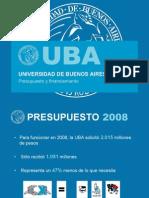 Presupuesto de la UBA 2008