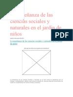 La enseñanza de las ciencias sociales y naturales en el jardín de niños