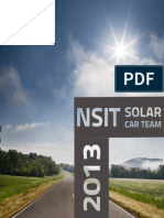 NSIT Solar Car Project Brochure