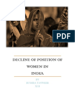 Decline of Position of Women in India