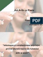Fumatul Activ Si Pasiv Andronache Ion