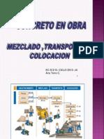 Concreto en Obra - Transporte y Colocacion -Atc