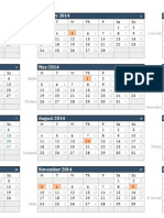 Combined Gregorian and Islamic Calendar