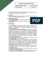 Pt-001 Validacion de Tecnicas Analiticas