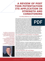 A Review of Post Activiation Potentiation and Its Application in Strength and Conditioning