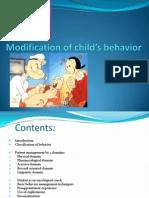 Modification of Child's Behavior