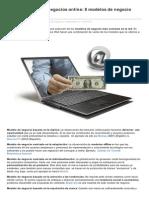 FREELANCER - 8 Modelos de Negocio Aplicados a Internet