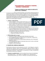 Derecho Mercantil - Resumen Libro