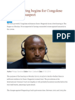 Crucial Hearing Begins for Congolese War Crimes Suspect