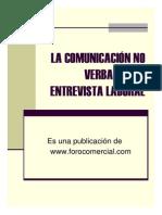 Lenguaje Corporal en Una Entrevista de Trabajo