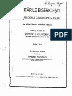 Cele 8 glasuri bisericesti dupa Dimitrie Cuntanu