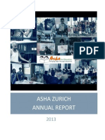 Annual Report of Asha Zurich for 2013
