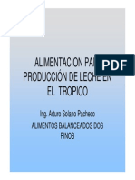 7.Alimentacion Para Produccion de Leche en El Tropico