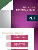 Structura Fonetica a Limbii