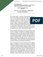 Castoriadis, C.; Reflexiones en Torno Al Racismo