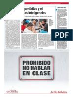 La lectura del periódico y el desarrollo de las inteligencias.La Voz de la Escuela.5.2.2014