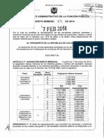 SALARIOS DOCENTES 1278 COLOMBIA. AÑO 2014.