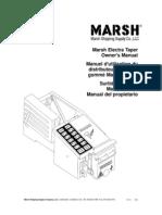 Marsh Electra Taper Owner's Manual