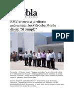 30-05-2013 Puebla on Line - RMV se mete a territorio antorchista; los Córdoba Morán dicen, Sí cumple.pdf