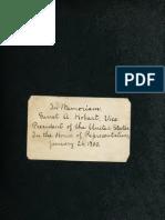 (1900) In Memoriam, Garret Augustus Hobart, Vice President