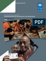 PNUD Informe-El Fomento de La ad to de Las Personas y Las Instituciones (2008)