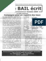 Le bail écrit octobre 2009